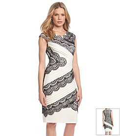 JAX® Asymmetric Tiered Lace Dress
