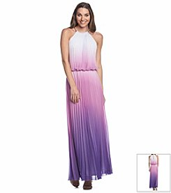 MSK® Chain-Neck Maxi Dress