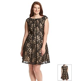 Julian Taylor Plus Size Lace Dress