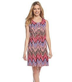 Ronni Nicole® Printed Pleated Shift Dress