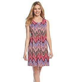 Ronni Nicole® Printed Pleated Shift Dress