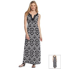 Ronni Nicole® Printed Jeweled Maxi Dress