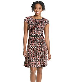 Jessica Howard® Petites' Printed Belted Dress