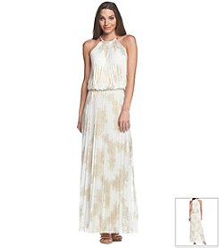 MSK® Pleated Foil Maxi Dress