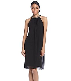 MSK® Jeweled Halterneck Shift Dress