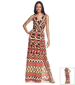 Sangria™ Printed Knot Maxi Dress