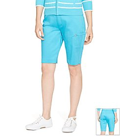 Lauren Active® Stretch-Cotton Short