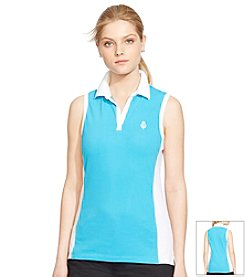 Lauren Active® Sleeveless Cotton Polo Shirt