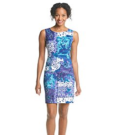 Connected® Petites' Floral Paisley Sheath Dress