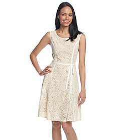 Gabby Skye® Rose Lace Fit And Flare Dress