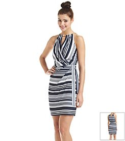 Jessica Simpson Striped Chain Halter Dress