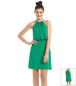 Jessica Simpson Popover Halter Sheath Dress
