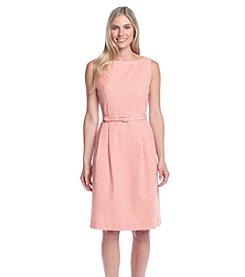 Anne Klein® Striped Fit And Flare Dress