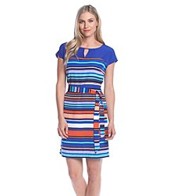 Andrew Marc® Striped Shift Dress