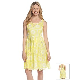 Plenty by Tracy Reese Floral Lace Fit And Flare
