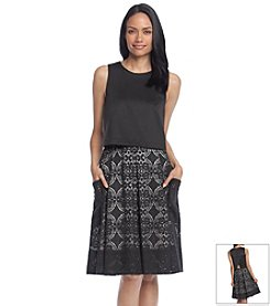 Adrianna Papell® Pop-Over Lace Pocket Dress