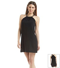 Calvin Klein Chain Halter Crepe Dress