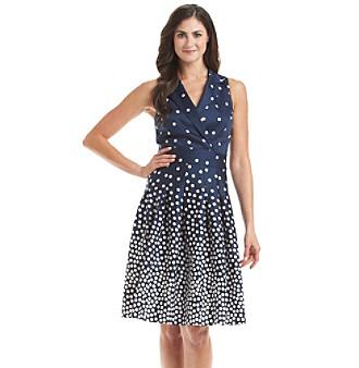 Upc 782417154049 Anne Klein 174 Polka Dot Wrap Dress