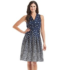 Anne Klein® Polka Dot Wrap Dress