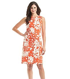 Anne Klein® Floral Pique Dress