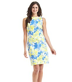 Chetta B. Floral Print Sheath Dress