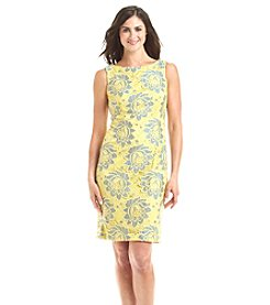 Chetta B. Floral Lace Sheath Dress