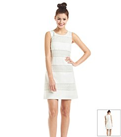 Jessica Simpson Crochet Blocked Shift Dress