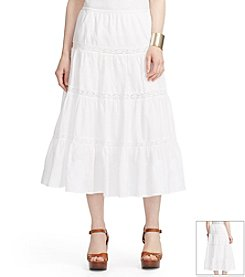 Lauren Jeans Co.® Tiered Cotton Maxi Skirt