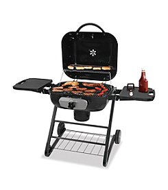 UniFlame® Deluxe Outdoor Charcoal Barbeque Grill with 2 Shelves