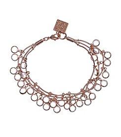 Anne Klein® Rose Goldtone Shaky Bracelet
