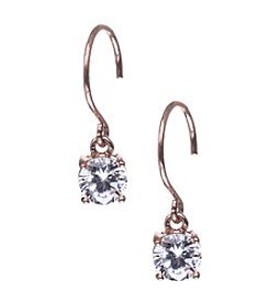 Anne Klein® Rose Goldtone Cubic Zirconia Drop Earrings