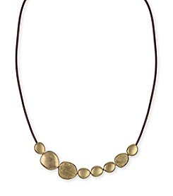 The Sak® Goldtone Batik Pebble Necklace