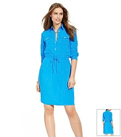 Lauren Ralph Lauren® Petites' Drawstring-Belt Shirtdress