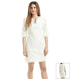Adrianna Papell® Crochet Shift Dress