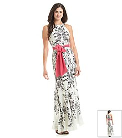 Eliza J® Printed Halter Maxi Dress