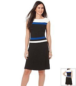 Chaps® Colorblock Jersey Day Dress
