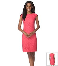 Chaps® Lace Sheath Dress