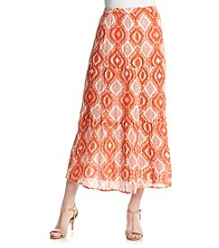 Notations® Printed Tiered Gauze Skirt