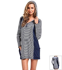 Anne Cole® Stripe Hooded Coverup