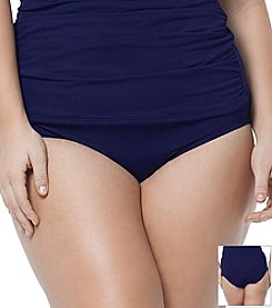 Anne Cole® Solid High Waist Bottom