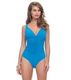 Profile by Gottex® Waterfall V-Neck 1 Piece Swimsuit