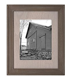Malden Walnut Wood Matted Frame