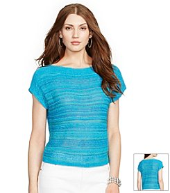 Lauren Ralph Lauren® Short Sleeve Marled Sweater