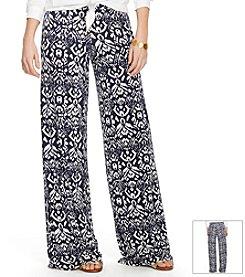 Lauren Ralph Lauren® Wide-Leg Ikat Pants