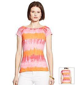 Lauren Ralph Lauren® Tie-Dyed Ballet-Neck Shirt