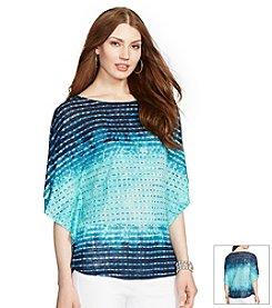 Lauren Ralph Lauren® Striped Linen Poncho