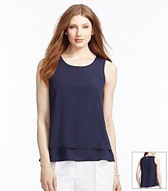 Lauren Ralph Lauren® Layered Crepe Top