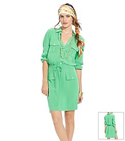 Lauren Ralph Lauren® Drawstring-Belt Shirtdress