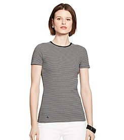 Lauren Ralph Lauren® Striped Stretch-Cotton T-Shirt