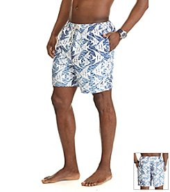 Nautica® Men's Big & Tall Fish Print Swim Trunk